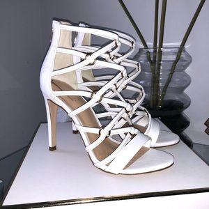 Aldo white strappy Heel